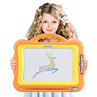 Magnetic Drawing Board for Kids   4 Color Zone Erasable Magna Doodle Pad for Educational Sketching   for Boys and Girls 3 Years and Up   Orange