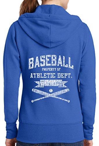 Womens Baseball Ath Dept Full Zip Hoodie, Royal, 4X