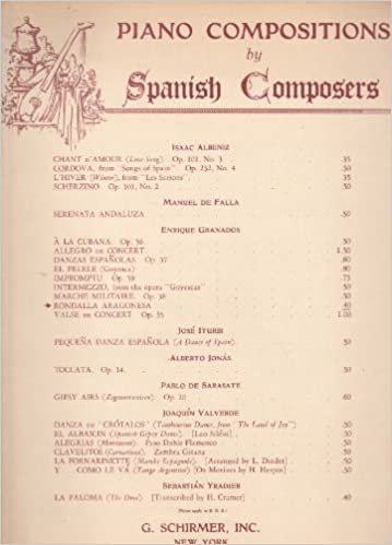Rondalla Aragonesa (Piano Compositions by Spanish Composers) Sheet music – 1940