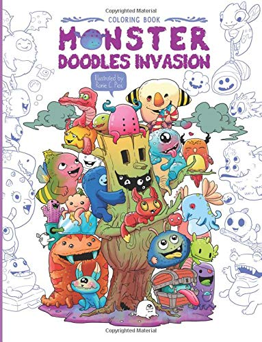Monster Doodles Invasion Coloring Adults product image
