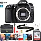 Canon EOS 80D 24.2 MP CMOS Digital SLR Camera (Body) (1263C004) w/ 32GB Deluxe Accessory Bundle Includes, Deco Gear Camera Bag and Photo and Video Professional Editing Suite