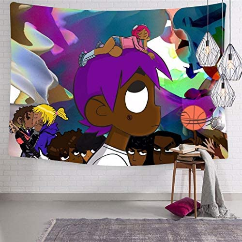 MOSDELU Lil-Uzi Rap Vert Tapestry Poster Wall Hanging, Art Home Decor Tapestry HD Print Wall Hanging 70.9 x 92.5 Inch
