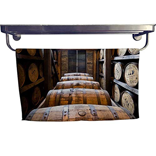 Whisky Hamper - Leigh home Dry Fast Towel,Oak Barrels Made by Bourbon Whisky,Gym Swim Hotel Use W 27.5