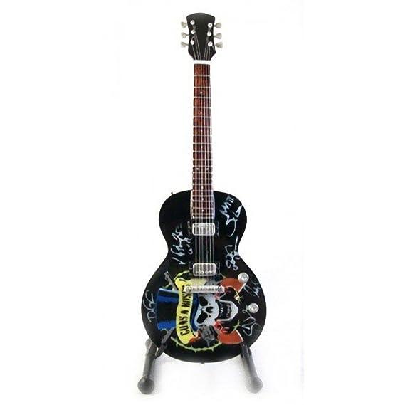 Réplica de guitarra en miniatura - minirregalo para los amantes de la música., GnR-Tribute: Amazon.es: Instrumentos musicales
