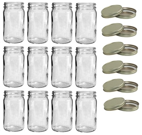 North Mountain Supply 8 Ounce Tall Mason Canning Jars 58mm