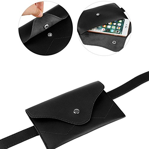 Womens leather fanny pack,VITORIA'S GIFT removable Belt with MINI Purse Travel Cell Phone Bag(phone under 4.7 inch) by VITORIA'S GIFT (Image #6)