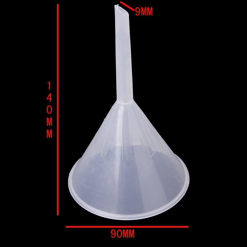 Sothat 90 mm plastico Embudo Transparente para fluidos de Cocina//Laboratorio//Garaje//Coche