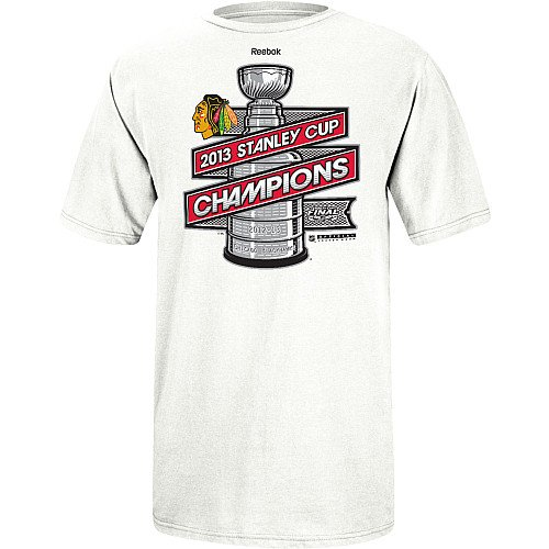 NHL Chicago Blackhawks 2013 Stanley Cup Champions Official Men's Locker Room T-Shirt, - Locker Room Champs T-shirt Cup