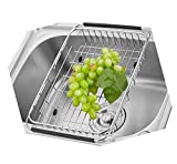 Tari_Kitchen The Sink Dish Drainer Dish Drying Rack Stainless Steel