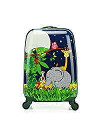 Sondre Children Rolling Travel Suitcase Animal Elephant Cartoon Kids Carry On Universal Wheels 18 in Travel Luggage Case
