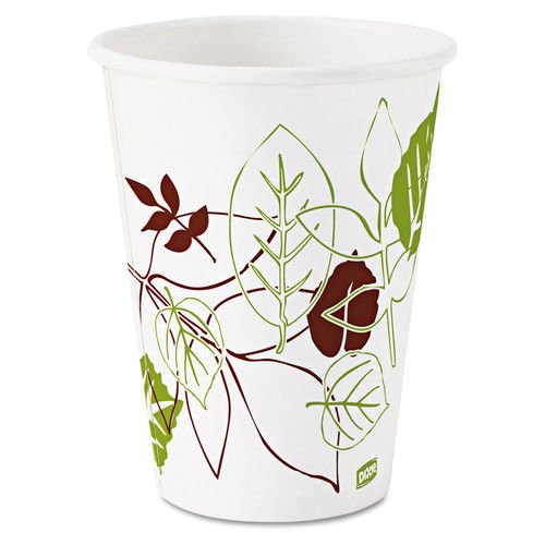 Dixie Pathways Paper Hot Cups, 12oz, 25/Bag, 20 -