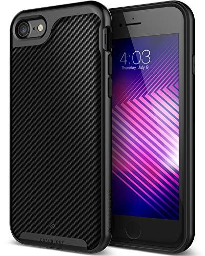 Black Matte Leather - Caseology Envoy for Apple iPhone 8 Case (2017) / for iPhone 7 Case (2016) - Premium Leather - Matte Black