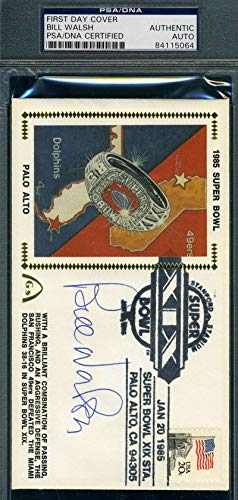 BILL WALSH PSA DNA Coa Autograph 1985 FDC Hand Signed Authentic