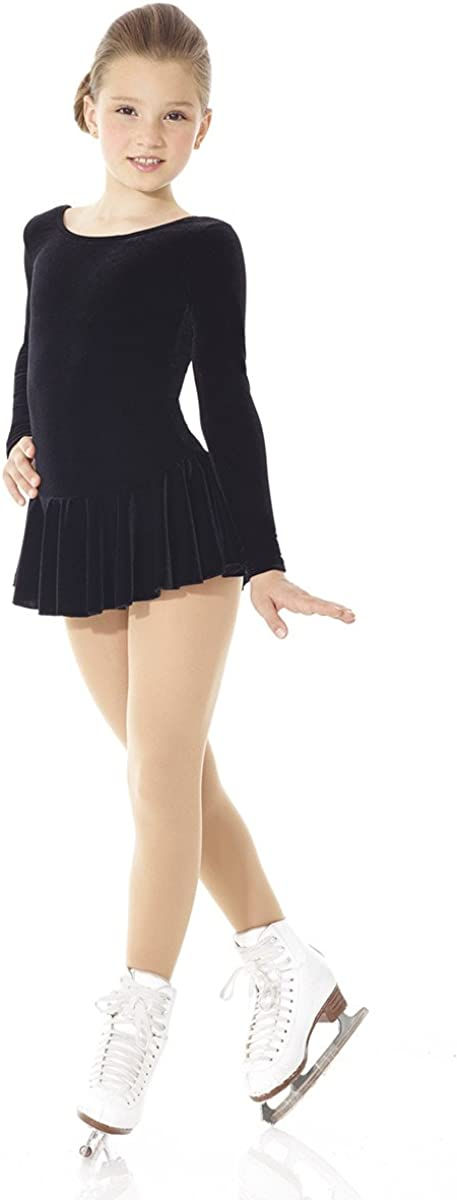 Mondor Girls Ladies Figure Skating Examination Dress - Ice Skating Examination Black Dress 2850: Clothing