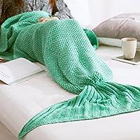 NOPTEG Mermaid Tail Blanket, Soft Crochet Handcrafted...