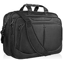 """KROSER 17.1"""" Laptop Bag for 15.6""""-17"""" Laptop Briefcase Water-Repellent Expandable Computer Bag Business Messenger Bag Shoulder Bag for School/Travel/Women/Men"""