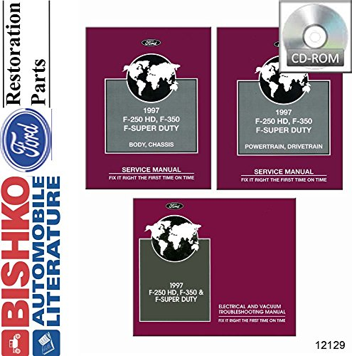 bishko automotive literature 1997 Ford F250 HD F350 F-Super Duty Truck Shop Service Repair Manual CD ()