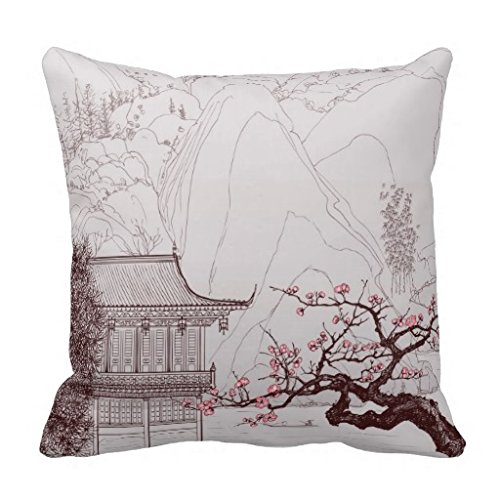 Decorpillows Japanese Cherry Blossom Pillow Cover 16