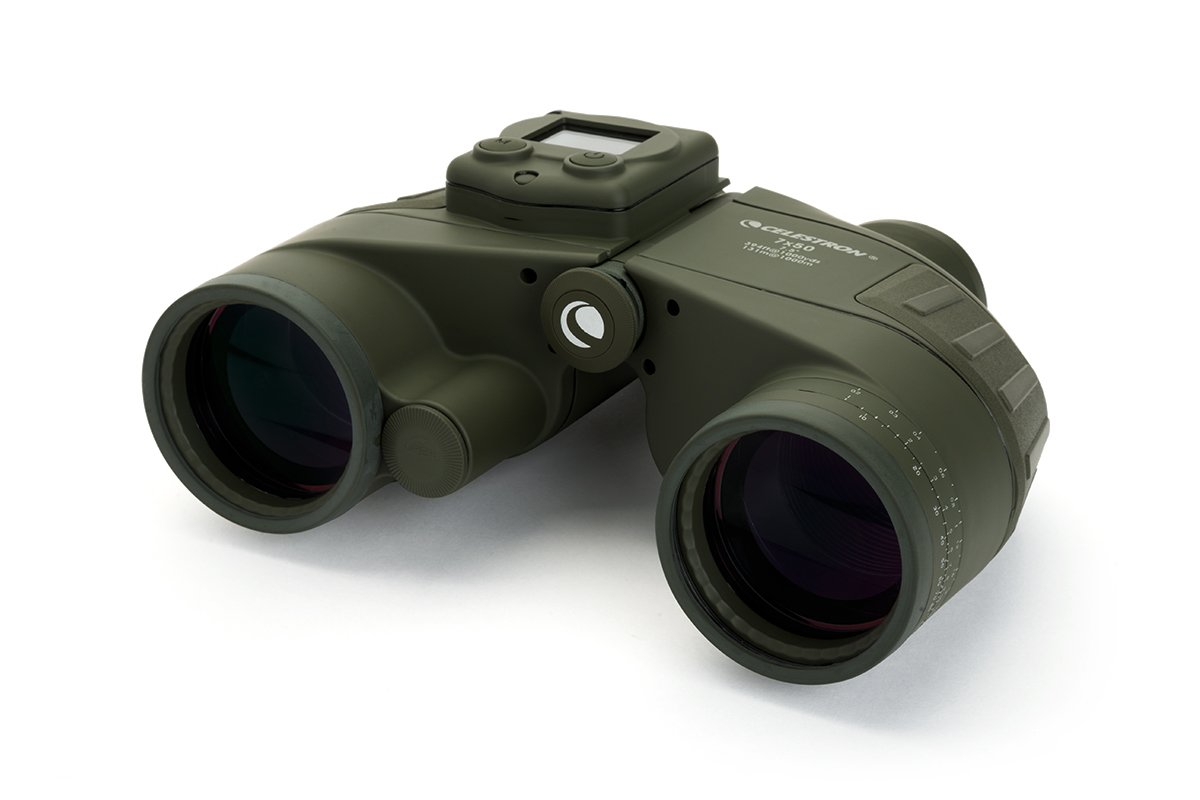 Celestron 71422 Cavalry 7x50 GPS Binocular (Olive Green)