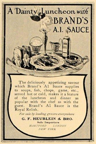 1907-ad-gf-heublein-brands-a1-sauce-luncheon-tray-original-print-ad