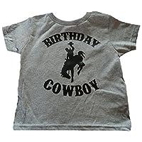 Custom Kingdom Boys Birthday Cowboy T-Shirt (2T, Gray)