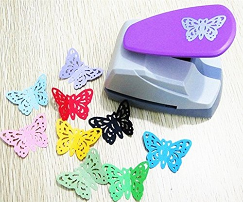 TECH-P Creative Life Crafts Engraving Hole Punch 2-Inch -DIY Paper Punch for Card Scrapbooking Craft Punch Embossing Border School Supplies. (Butterfly-2)