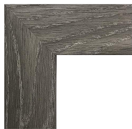US Art Frames 13x19 Inch Picture Frame, Smooth Wrap Finish, 1.25-Inch Wide, Distressed Rustic Grey Barnwood (This is NOT Real Barnwood), Wood Composite MDF ()