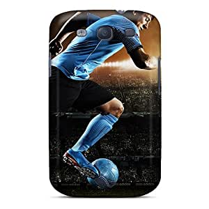 Shock Absorbent Hard Cell-phone Cases For Samsung Galaxy S3 With Custom Realistic Lionel Messi Skin CharlesPoirier