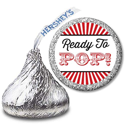 Baby Shower Circus Theme (Ready To Pop Baby Shower Hershey Kiss Stickers | 216 Chocolate Drop Labels | Mini Candy Stickers | Baby Shower Stickers | Hershey Kiss Stickers for Baby Shower (Circus -)