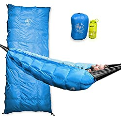 Outdoor Vitals Aerie 30°F Down Underquilt/Sleeping Bag, Use As Ultralight Underquilt, Sleeping Bag, Or Double Bag