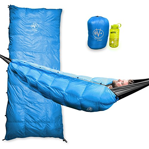 Outdoor Vitals Aerie 30°F Down Underquilt / Sleeping Bag, Use As Ultralight Underquilt, Sleeping Bag, Or Double Bag