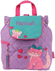 Personalized Stephen Joseph Cat Quilted Backpack with Embroidered Name
