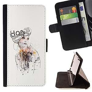 "For Sony Xperia M5 E5603 E5606 E5653,S-type Diseño Vestido moda de la acuarela"" - Dibujo PU billetera de cuero Funda Case Caso de la piel de la bolsa protectora"