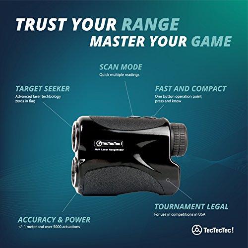 TecTecTec VPRO500 Golf Rangefinder - Laser Range Finder with Pinsensor - Laser Binoculars - Free Battery by TecTecTec (Image #2)