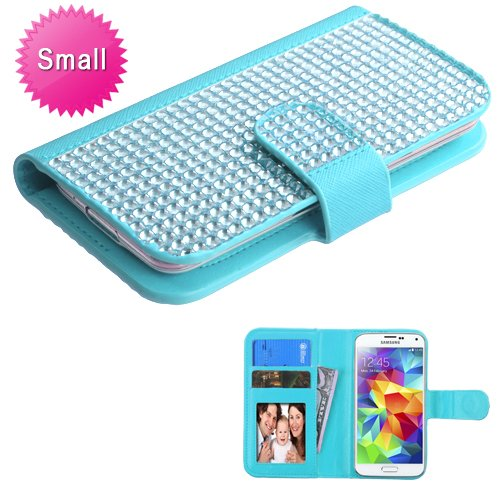 Universal Light Blue Diamonds MyJacket Wallet (DM101) (with Package) for APPLE iPhone 4s/4 APPLE iPod touch (4th generation) (Samsung Galaxy Attain 4g Case)