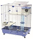 Marchioro Sara 82 C2 Cage for Small Animals with Wheels, 32.25 inches, Blue
