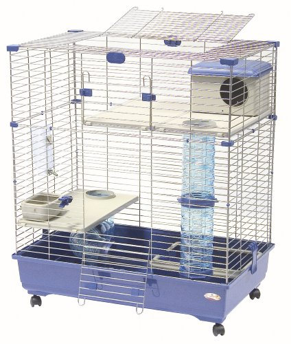 Marchioro Sara 82 C2 Cage for Small Animals with Wheels, 32.25 inches, Blue by Marchioro