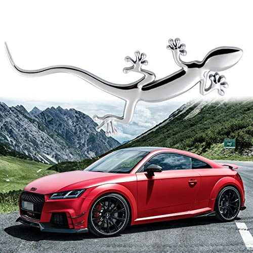 Silver Lizard Gecko Badge Emblem Sticker For Audi Quattro A1 A4 A3 A5 TT S3 S5 RS3 RS4