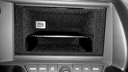 (C7 Corvette Stingray/Z06/Grand Sport 2014+ Dash Storage Accessory Shelf - Black ABS Plastic)