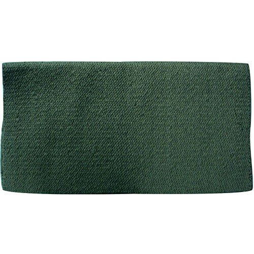 Mayatex San Juan Solid Saddle Blanket, Hunter Green, 36 x 34-Inch