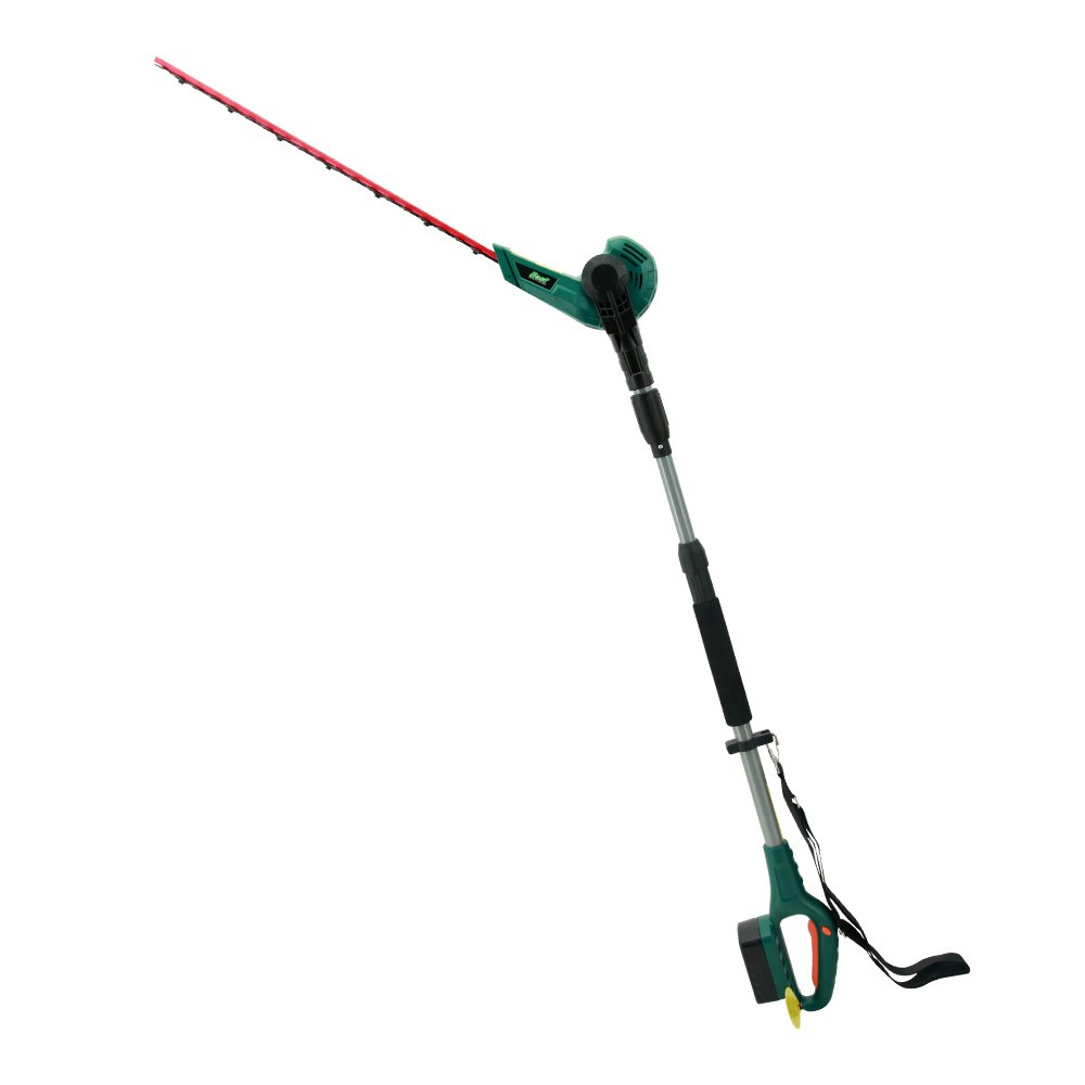 """EAST 20V Li-ion Cordless 2 in 1 Pole Hedge Trimmer with Rotating Handle, 20"""" - Battery & Charger Included"""