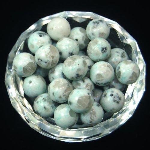 (AD Beads Natural Gemstone Round Spacer Loose Beads (6mm 100pcs, Lotus Jasper))