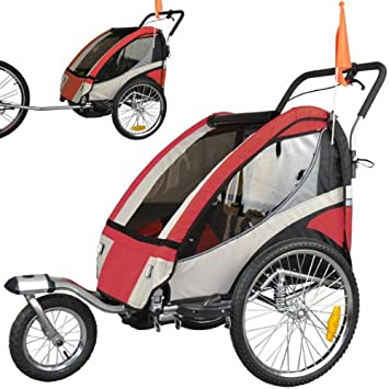 Remorque Portebébé Double Amortisseurs Pour Vélo Avec Set De - Porte bébé pour vélo