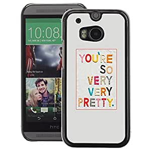 A-type Arte & diseño plástico duro Fundas Cover Cubre Hard Case Cover para HTC One M8 (Pretty Girlfriend Love Text Gift Colorful)