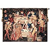 Tapestry, Extra Large, Wide - Elegant, Fine & Wall Hanging - Grapes Harvest, Vendanges, C-H48xW66