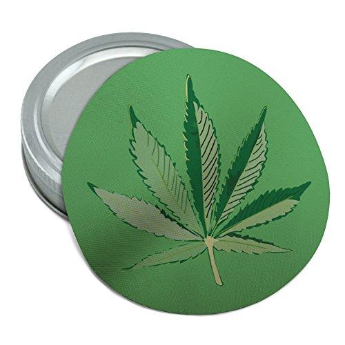 (Marijuana Pot Weed Leaf Bud Ganja Green Mary Jane on Green Round Rubber Non-Slip Jar Gripper Lid Opener)