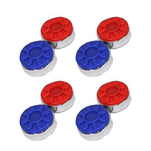 Set of 8 Sun-Glo Shuffleboard Pucks - Red/Blue