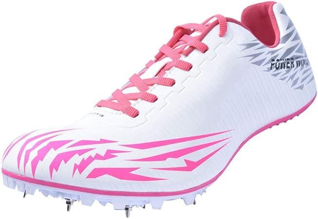 YPPDSD Púas para Correr, Zapatillas de Atletismo Unisex Zapatillas de Entrenamiento de Sprint Competencia para jóvenes Adultos al Aire Libre Zapatillas de uñas para Correr Profesionales,Rosered,40: Amazon.es: Hogar