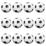 12 Pack of Foosballs by Brybelly (Black and White Soccer)