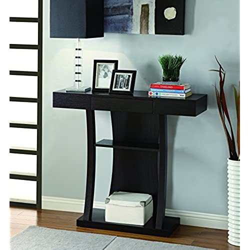 contemporary entryway table. Coaster Home Furnishings 950048 Contemporary Console Table, Cappuccino Entryway Table P